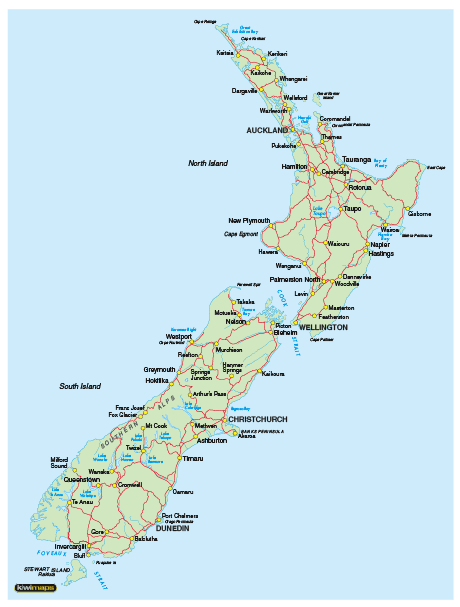 Printable North Island Of New Zealand